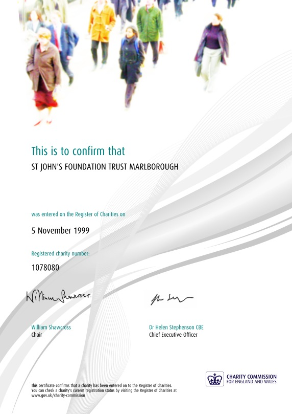 CC Registration Certificate - St John_s Foundation Trust Marlborough